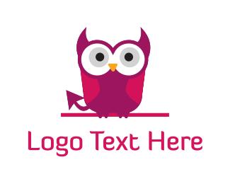 Vibrant - Devil Owl logo design