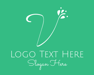 Yogi - White Floral Letter V logo design