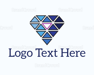 Crystal - Abstract Diamond Triangles logo design