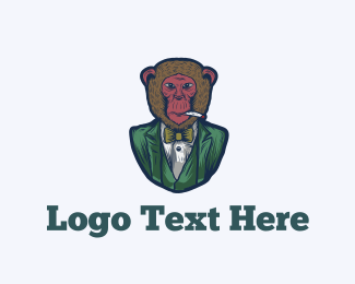 Vape - Fashion Monkey logo design