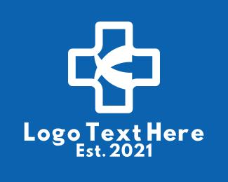 Genetics Lab - White Medical Cross  logo design