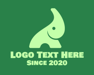 Environment - Green Baby Elephant logo design