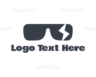 Rock Band - Black Sunglasses Lightning Bolt logo design