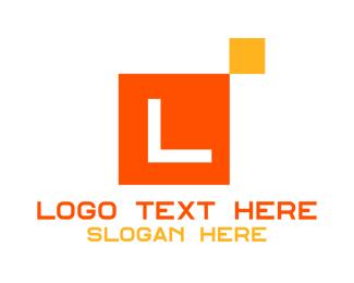 Home Depot - Modern Square Tile lettermark logo design