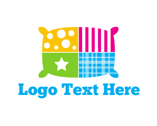 Cushion - Colorful Pillow logo design