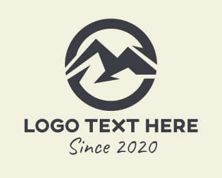 Brand - Abstract Mountain Brand logo design
