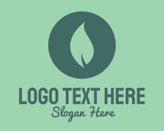 Green House - Circle & Leaf logo design