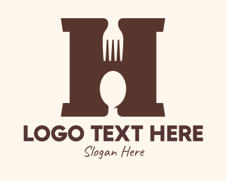 Hungry - Restaurant Letter H logo design