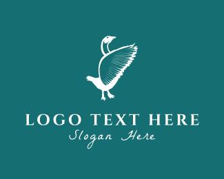 White Bird - Wild Goose logo design