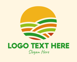 Meadow - Colorful Crops Field  logo design