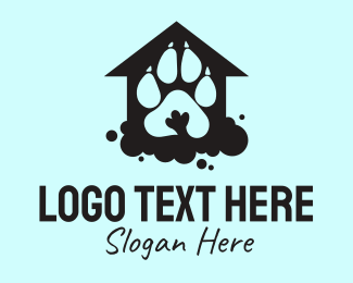Animal Clinic - Paw Print Shelter  logo design