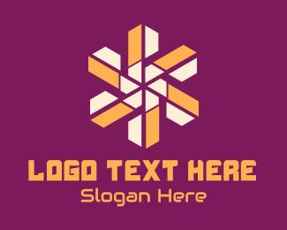 Shine - Digital Tech Sun Star logo design