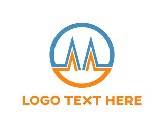 Corporate - Letter M Circle logo design