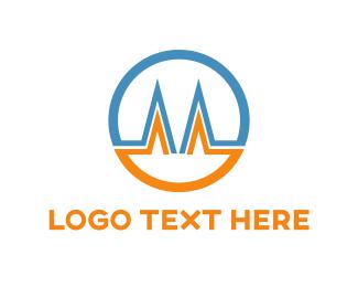 Corporate - Letter M Circle logo design