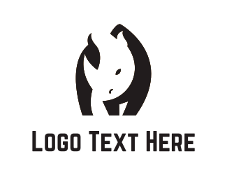 Rhinoceros - Black Rhino logo design