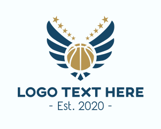 Hoops - Basketball Tournament Wings logo design