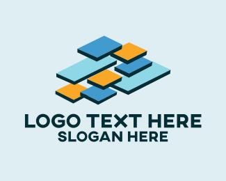 Devops - Data Stack Technology logo design