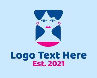 Shampoo - Blue Beautiful Lady logo design