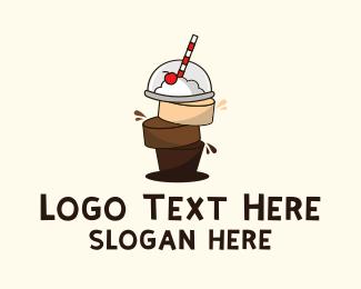 Chocolate - Chocolate Caramel Smoothie logo design