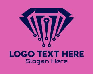 Ea - Digital Modern Diamond logo design
