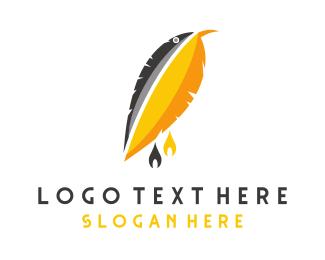 Perfect - Yellow Plume Bird logo design