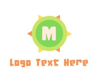 Aloha - Summer Lettermark logo design