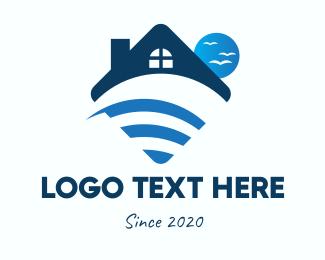 Wifi - Beach House WiFi logo design