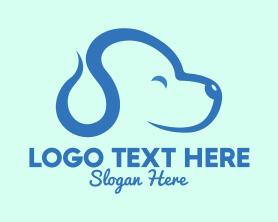 Cute Blue Puppy Dog Logo