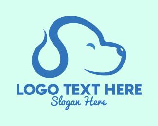 Puppy - Cute Blue Puppy Dog logo design