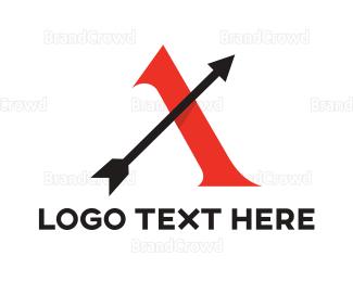 Archer - Red A Arrow logo design