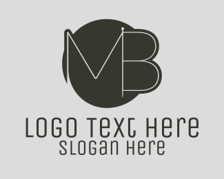 Vector - M & B Needle logo design