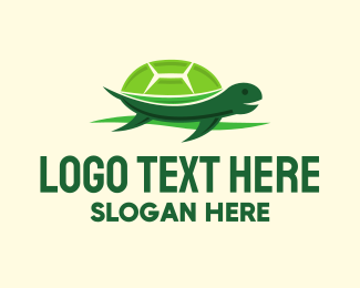 Sea Turtle - Cute Green Turtle logo design