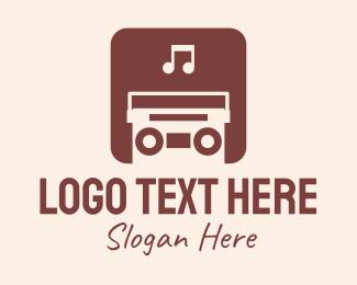 Playlist - Retro Music App logo design