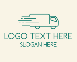 Pickup - Green  Moving Truck logo design