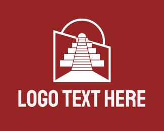 Architecture - Architectural Mayan Temple logo design