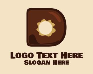 Bakeshop - Donut Letter D logo design