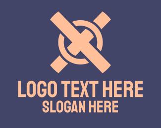 Letter - Game Console Symbol logo design