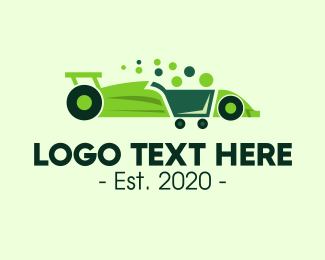 Grocery Cart - Modern Grocery Cart Car logo design