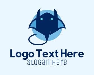Aquamarine - Blue Stingray logo design