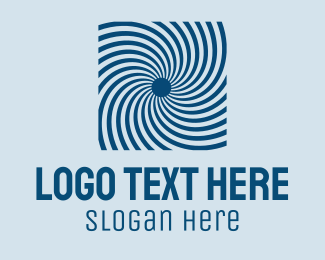 Hurricane - Blue Optical Illusion logo design