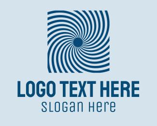 Optical - Blue Optical Illusion logo design