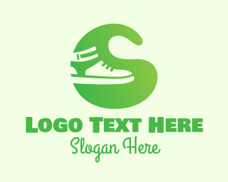 Leather - Green Sneakers logo design