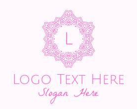 Beauty - Pink Botanical Letter logo design