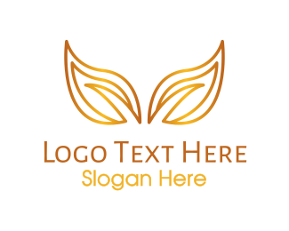 Glory - Gradient Gold Leaves logo design