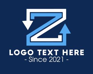 Linework - Letter Z Arrows logo design