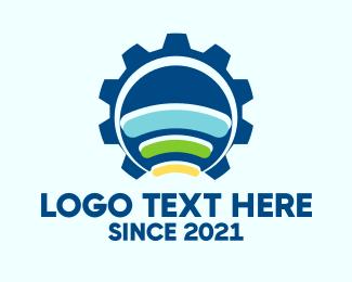 Cogwheel - Industrial Signal logo design