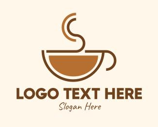 Cappucino - Espresso Coffee Cup logo design