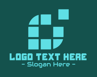 Pixelate - Digital Pixel Letter O logo design