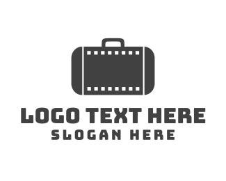 Filmstrip Suitcase Logo