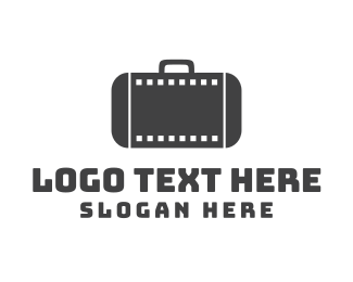 Suitcase - Filmstrip Suitcase logo design